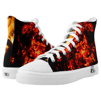 Fire and Embers Zipz High Top Shoes