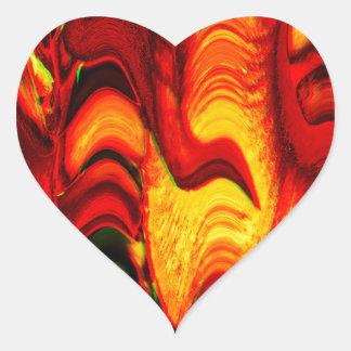 fire and gold heart sticker