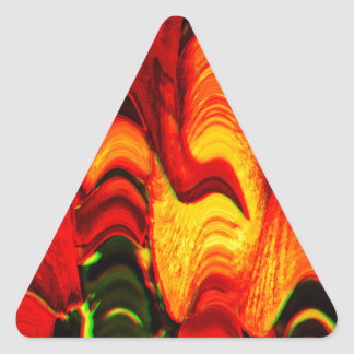 fire and gold triangle sticker