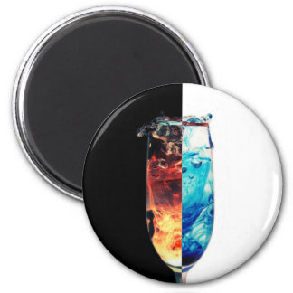 Fire and Ice 6 Cm Round Magnet