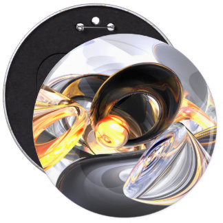 Fire and Ice Abstract Button