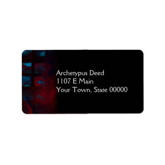 Fire and Ice Abstract Digital Artwork Address Label