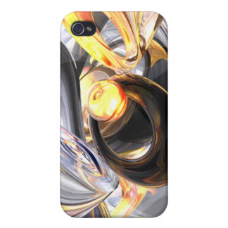 Fire and Ice Abstract  iPhone 4/4S Case