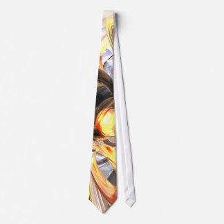 Fire and Ice Abstract Tie