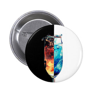 Fire and Ice 6 Cm Round Badge