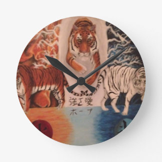 Fire and Ice Wallclock