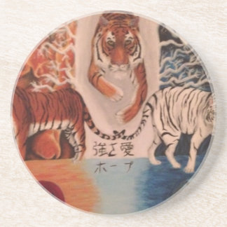 Fire and Ice Beverage Coasters