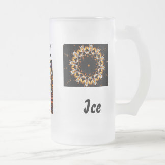 Fire and Ice Frosted Glass Mug