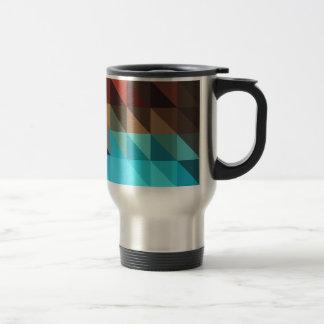 Fire and Ice Geometric Coffee Mugs