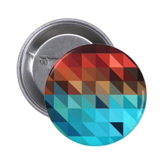 Fire and Ice Geometric Pinback Button