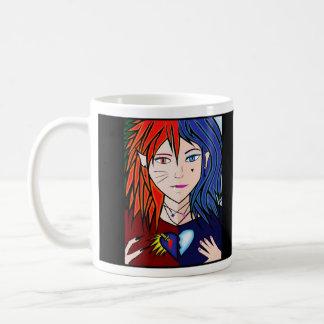 fire and ice girl mug