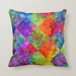 [Fire and Ice: Harlequin] BoHo Gypsy Tie-Dye Cushion