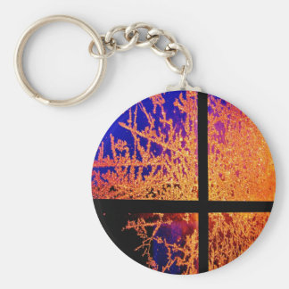 Fire and Ice Keychain