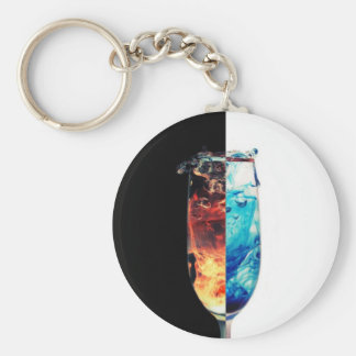 Fire and Ice Basic Round Button Key Ring