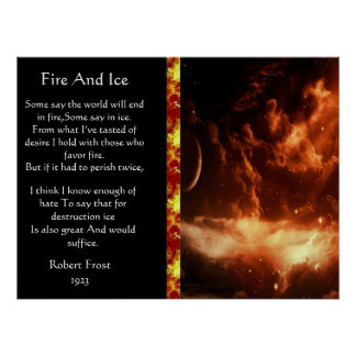 Fire And Ice Majestic Orange Space Posters