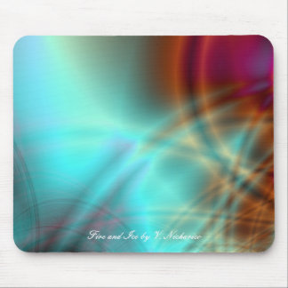 Fire and Ice Mousepad Mouse Pad