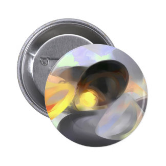 Fire and Ice Pastel Abstract Button