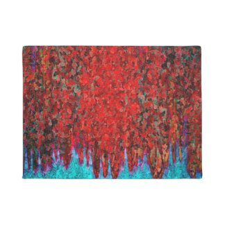 Fire and ice pattern doormat