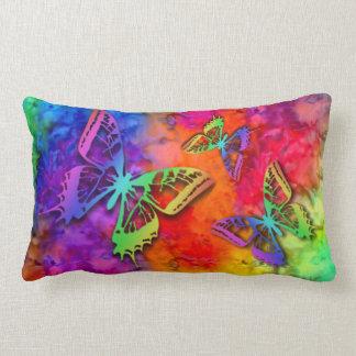 [Fire and Ice] Rainbow Boho Butterfly Tie-Dye Lumbar Cushion