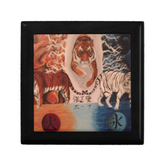 Fire and Ice Small Square Gift Box