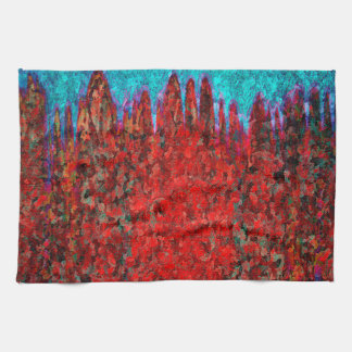 Fire and ice texture hand towels