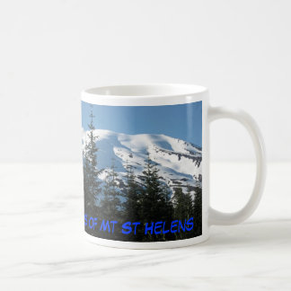 Fire and Ice - The Two Faces of Mt St Helens Basic White Mug