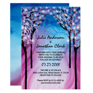 Fire and Ice Wedding Invitation Template