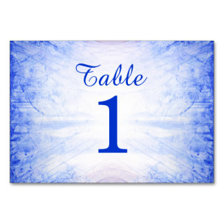 Fire and Ice Wedding Table Cards - Ice