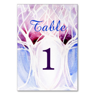 Fire and Ice Wedding Table Cards | Watercolor