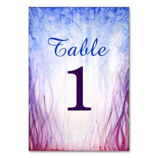 Fire and Ice Wedding Table Number Cards