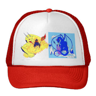 Fire and Ice Wizards Cap Mesh Hat
