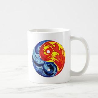 Fire and Ice Yin-Yang Basic White Mug