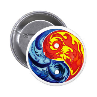 Fire and Ice Yin-Yang Button