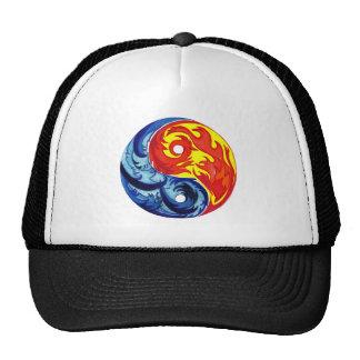 Fire and Ice Yin-Yang Trucker Hat
