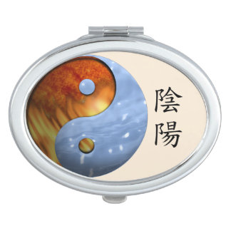 Fire and Ice Yin Yang Makeup Mirror