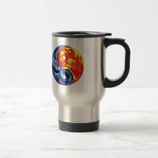 Fire and Ice Yin-Yang Coffee Mug