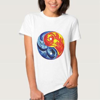 Fire and Ice Yin-Yang Tee Shirt