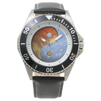 Fire and Ice Yin Yang Wristwatch