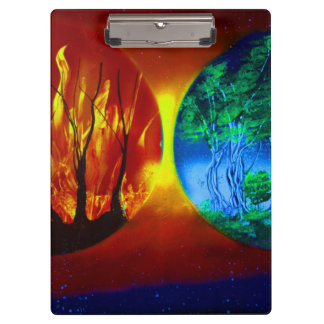 fire and life spraypainting nature image clipboards