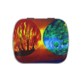 fire and life spraypainting nature image jelly belly tins