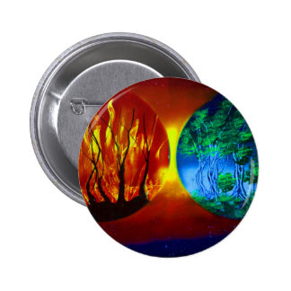 fire and life spraypainting nature image pin