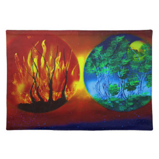 fire and life spraypainting nature image place mat