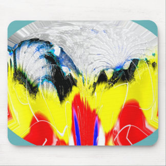 Fire and melting ice mouse pad