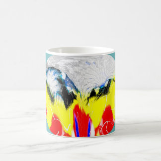 Fire and melting ice coffee mug