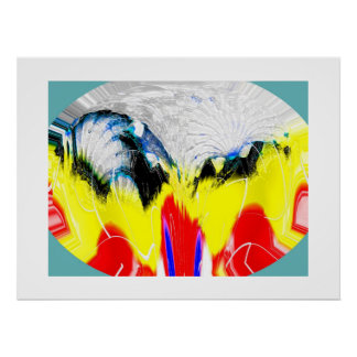Fire and melting ice poster