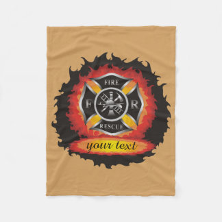 Fire and Rescue Personalised Fleece Blanket