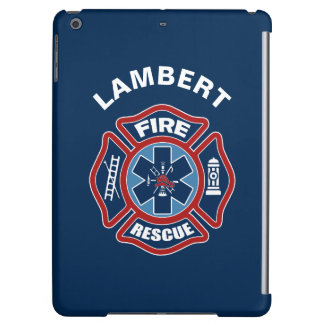 Fire and Rescue Red and Blue Cover For iPad Air