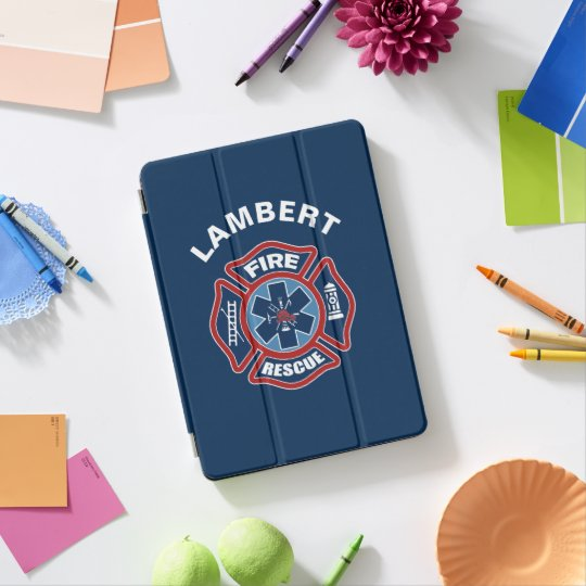 Fire and Rescue Red and Blue iPad Pro Cover