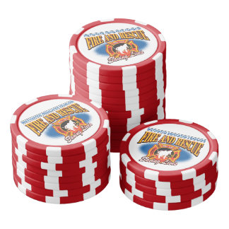 Fire and Rescue Saving Lives Poker Chips