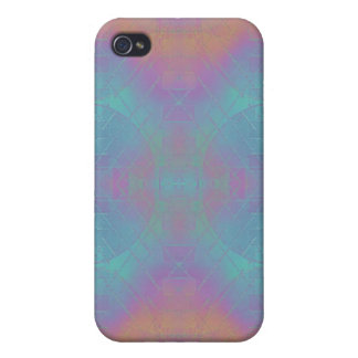 Fire and Sea - Pink and Blue Abstract iPhone 4 Case